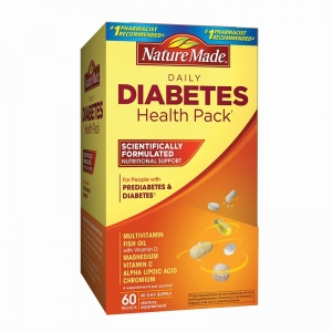 Nature made daily diabetes health pack 60 gói